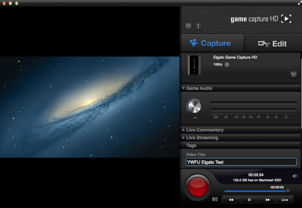 Game Capture HD software