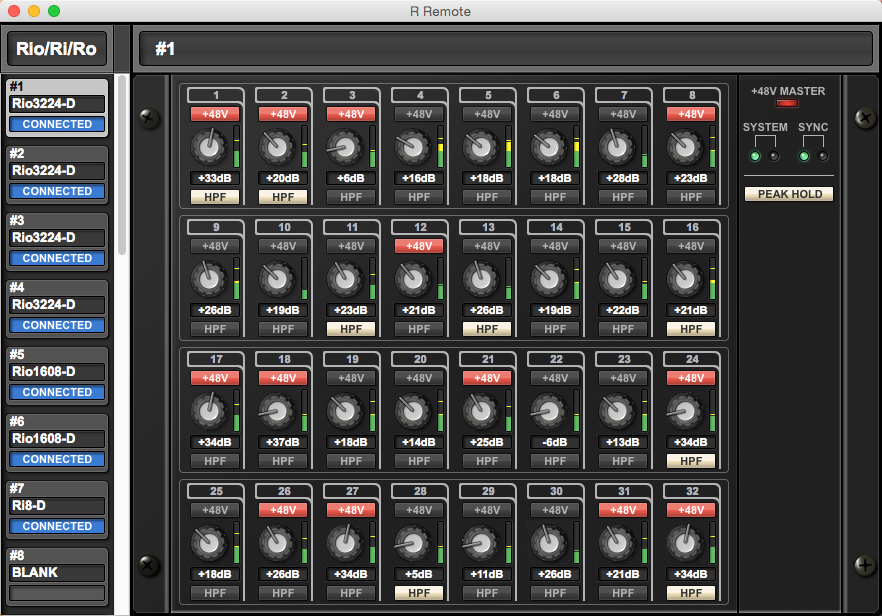 Yamaha R remote, credits  Yamaha