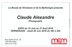 Management of an exhibition of the photographer Claude Alexandre at the Erotic and Mythology museum in Brussels.