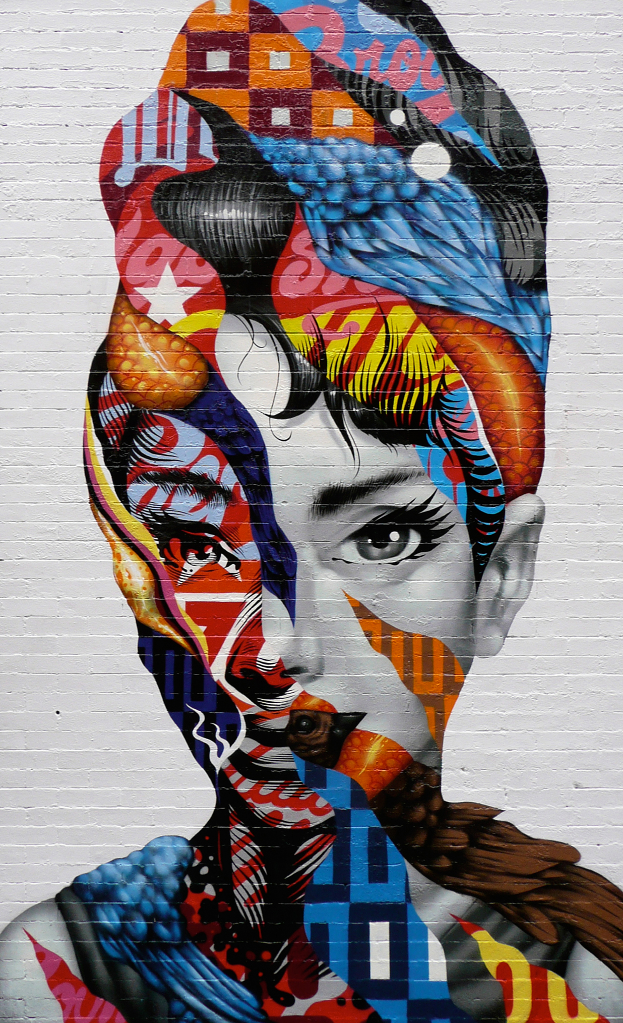 Audrey of mulberry nyc tristan eaton for Poster mural 4 murs