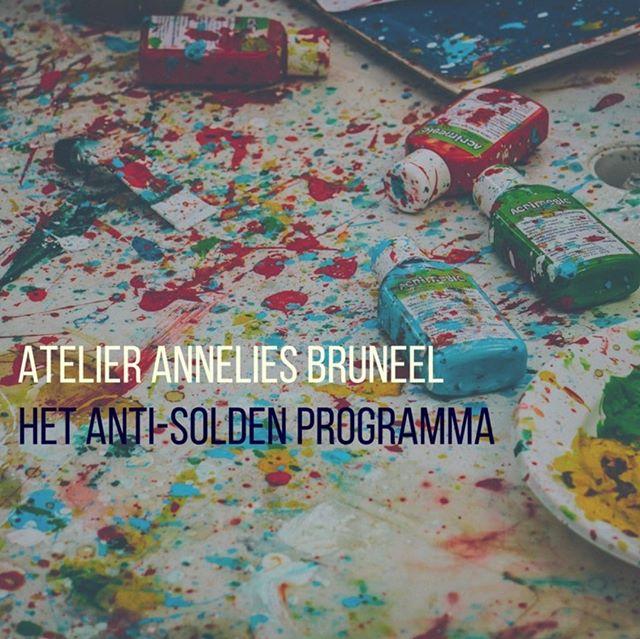 Nu staat het Anti-Solden programma zelf in de solden. Aan de helft van de prijs krijg je de volledige & persoonlijke service.  atelier@anneliesbruneel.be
