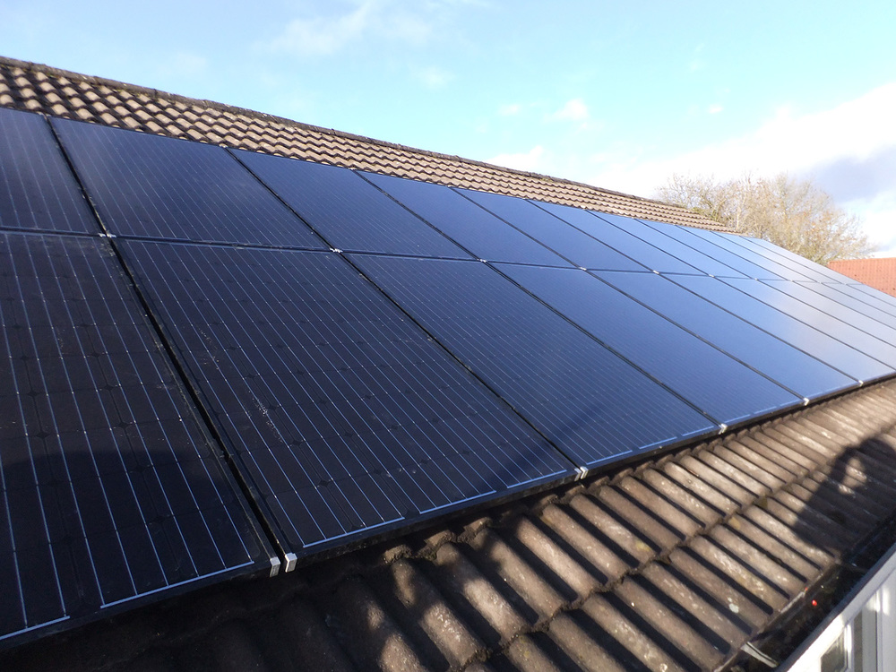 A finished Solar PV array