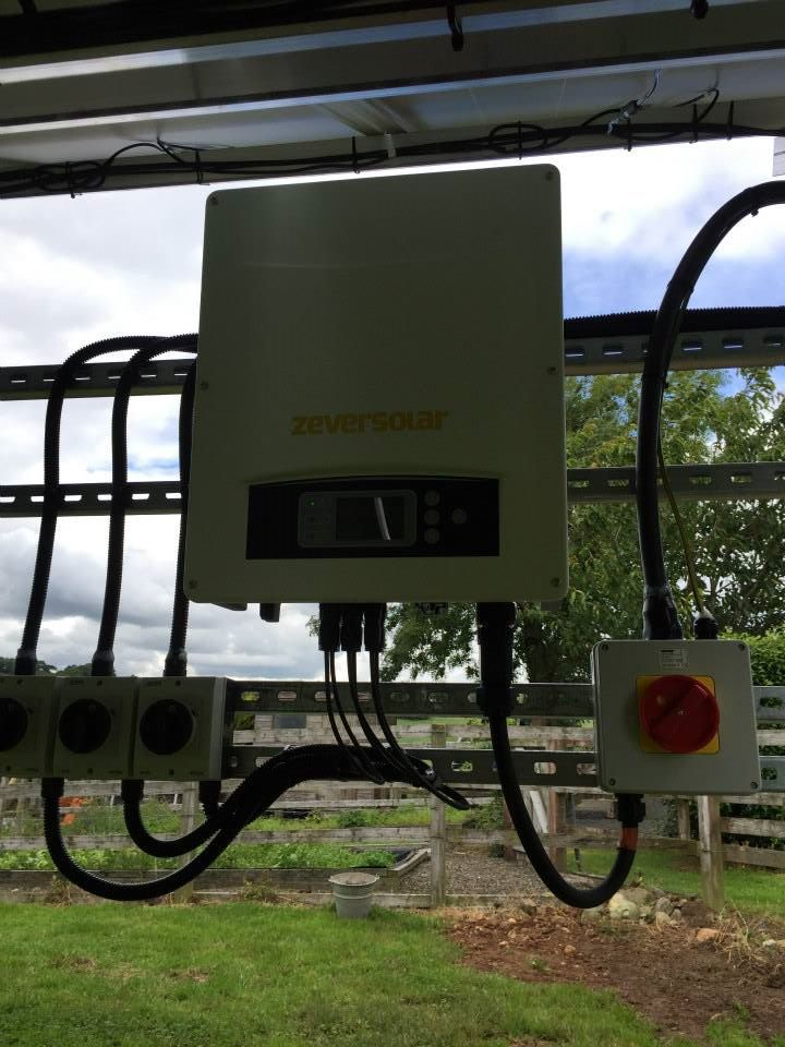 Neat and Tidy Inverter & Isolaters - 12KW Groundmount System