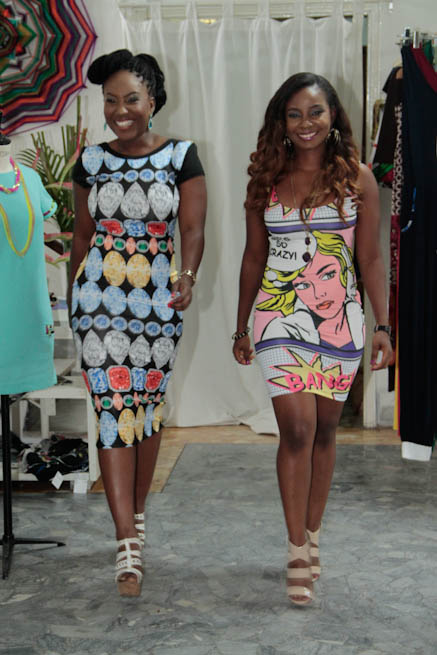 Ms Lola and Ms Theodora Nnaji of Cool TV Strutting in Kbuti dresses.jpg