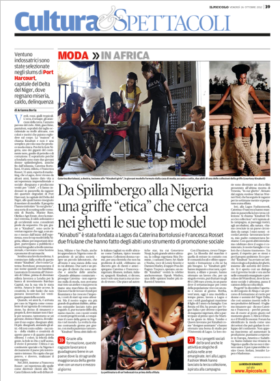 IL PICCOLO (ITALIAN NEWSPAPER) | 27TH OCTOBER 2012