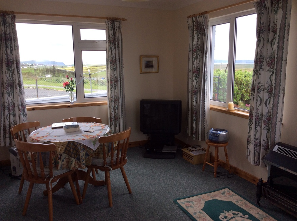 The dining area within the sitting room.
