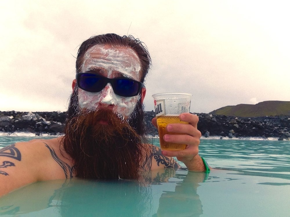 Try a mud mask and have a drink while soaking in the Blue Lagoon