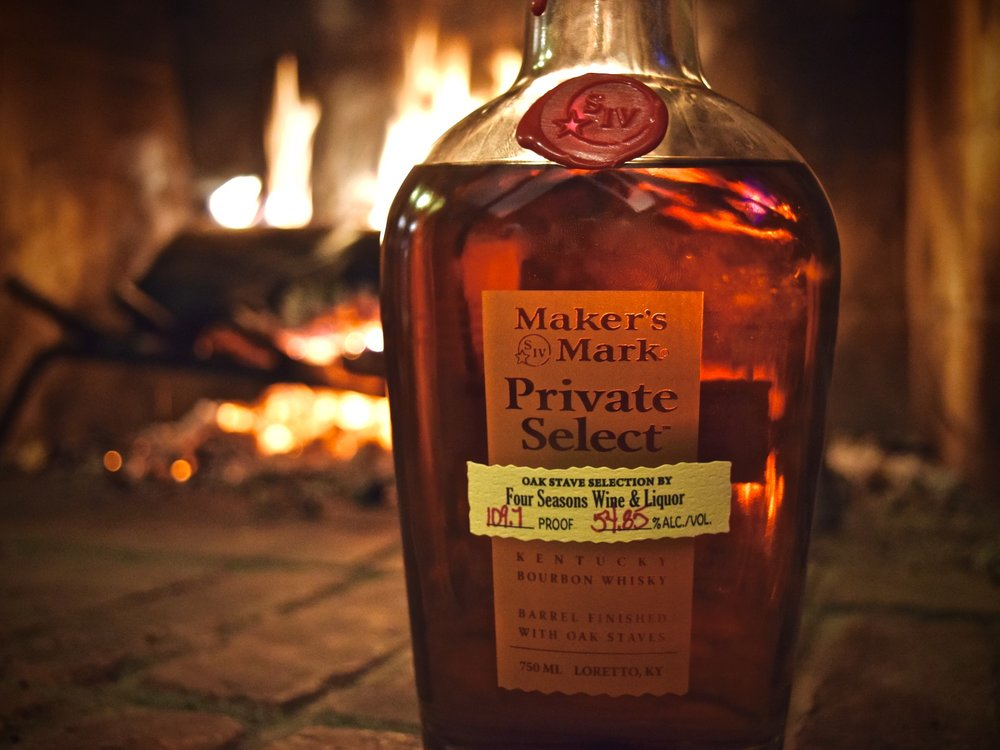Maker's Mark Private Select Bourbon exclusive to Four Seasons Wine and Liquor - Hadley, MA