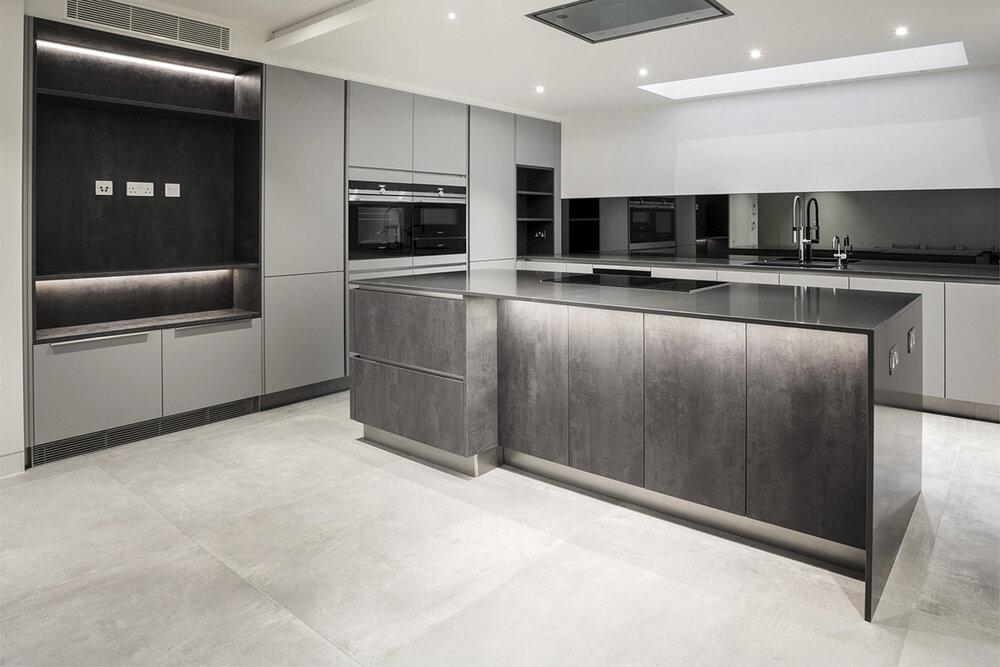 Grey Stone Kitchen Interior