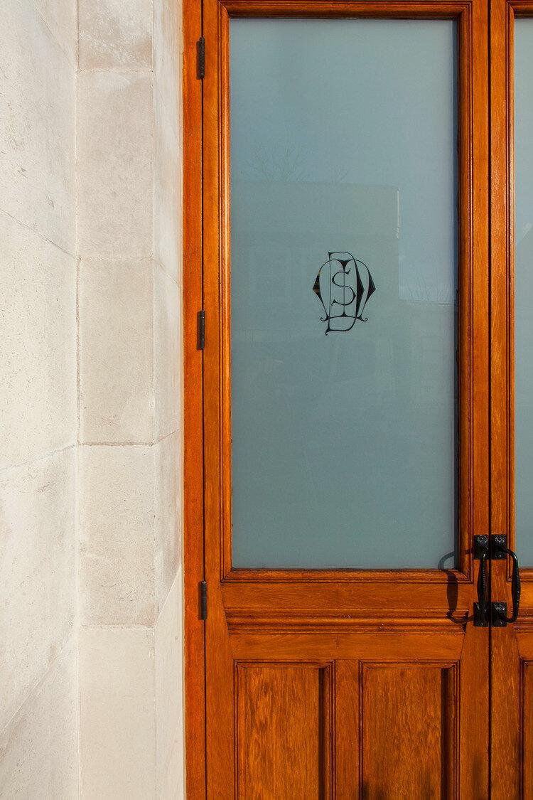 Exterior wooden door detail
