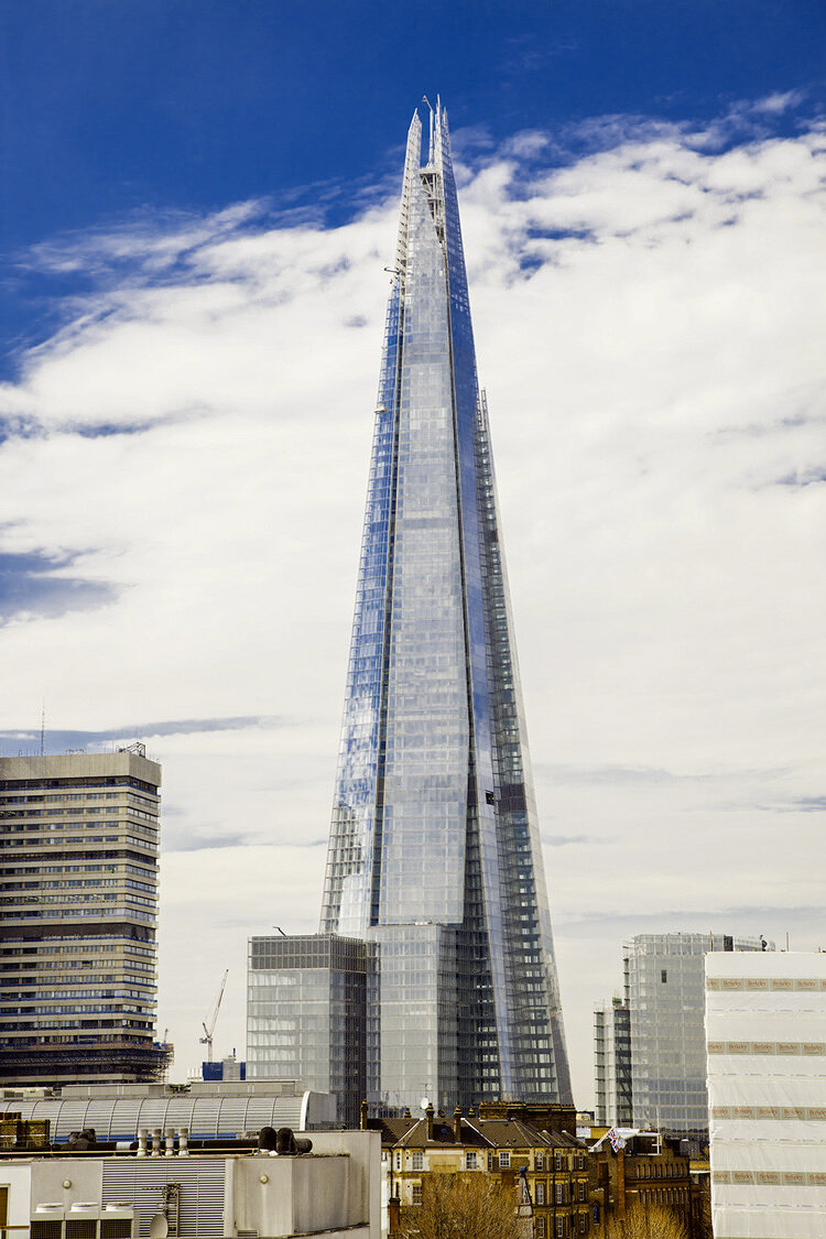 The Shard as photographed from on top of a building on Queen Elizabeth Street. Commissioned by London Newcastle for a marketing prospectus.