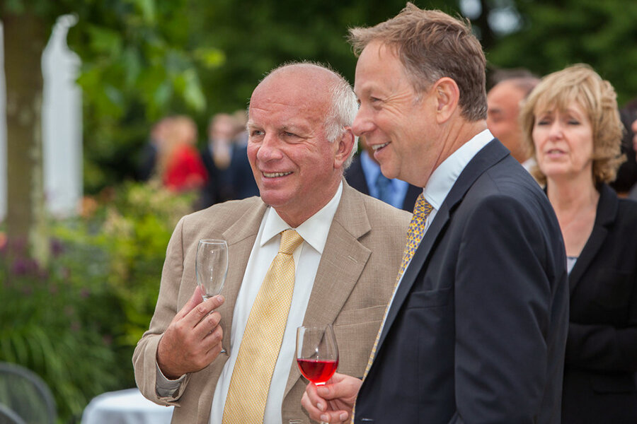 Greg Dyke at the Liberal Democrat fundraiser at Pembroke Lodge in Richmond Park.