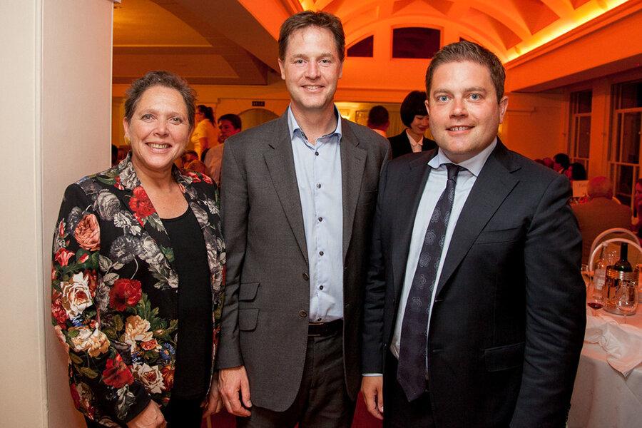 Susan Kramer, Nick Clegg and Robin Meltzer at Pembroke Lodge before the 2015 general election.