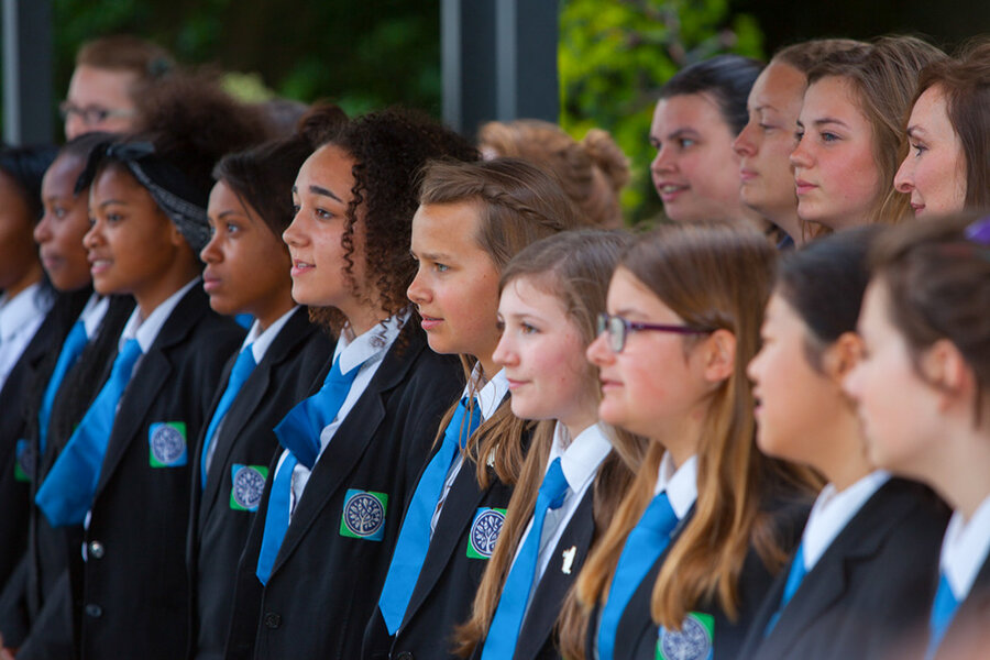 Richmond Park Academy school choir sing at a fundraising event in 2015.