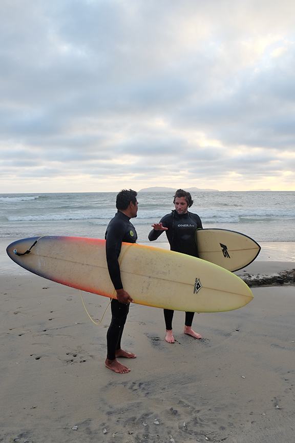 Kike and Kaspar at Baja Malibu
