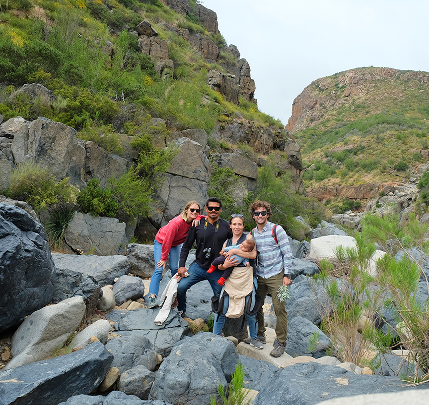 Ali, Enrique, Aleka, Gael, Kaspar at Canyon El Salto
