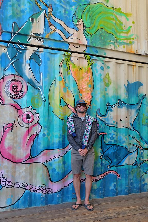 Aqua Mana Cerveceria boxcar mural