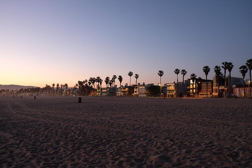 Sunlight over Venice Beach