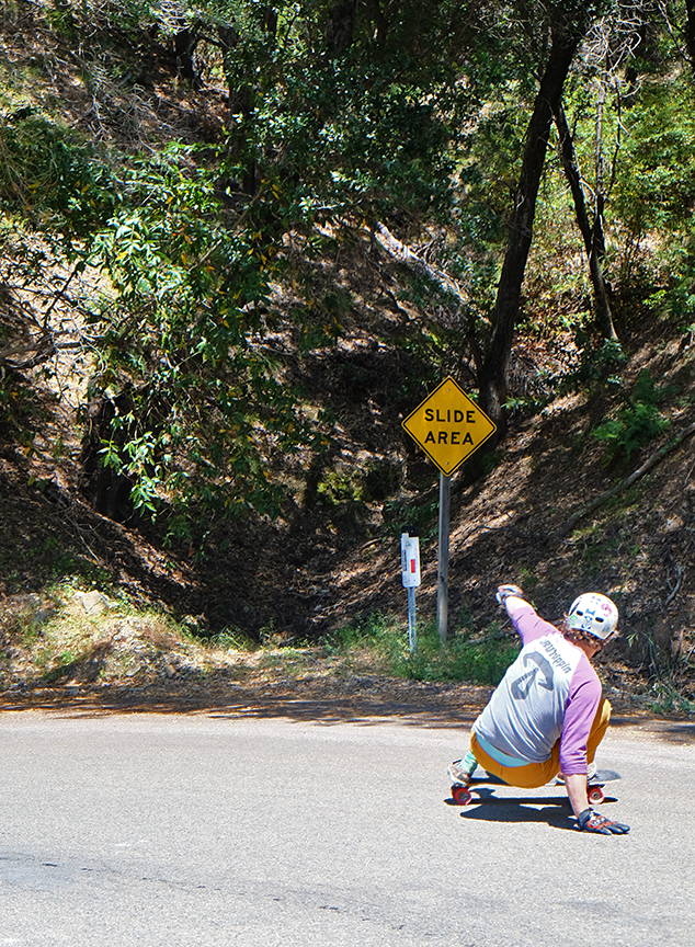 """Slide Area"" on Nacimiento Ferguson road in Big Sur"