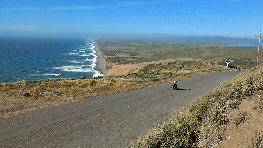 getting a run in at Point Reyes