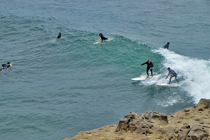 party wave off of Seal Rock