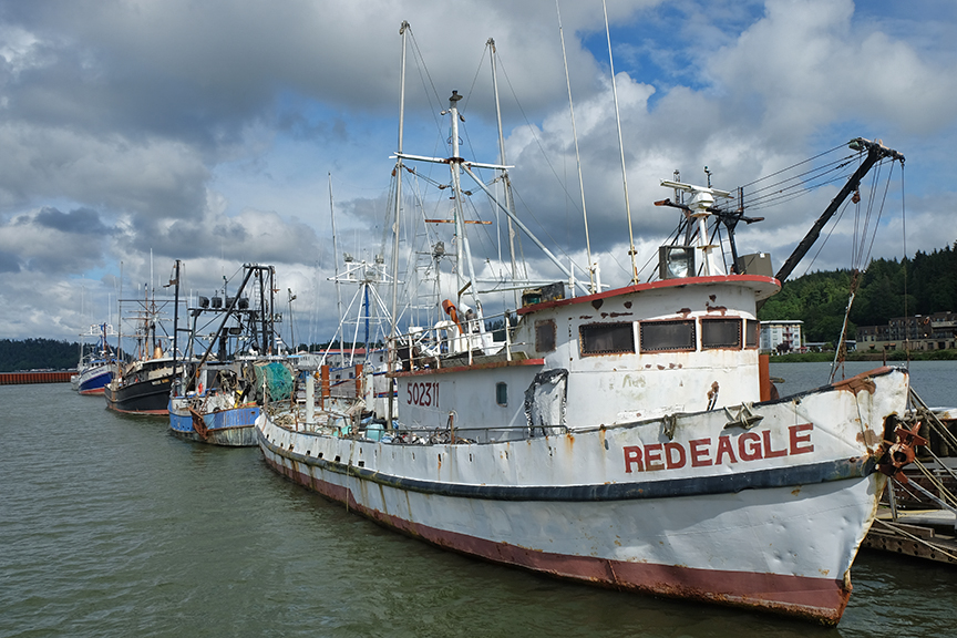 fishing boats in Astoria