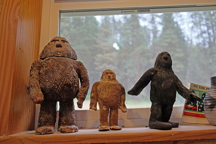 Sasquatchs watching over the studio