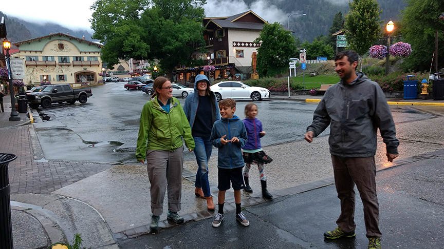 visiting Leavenworth - the crew