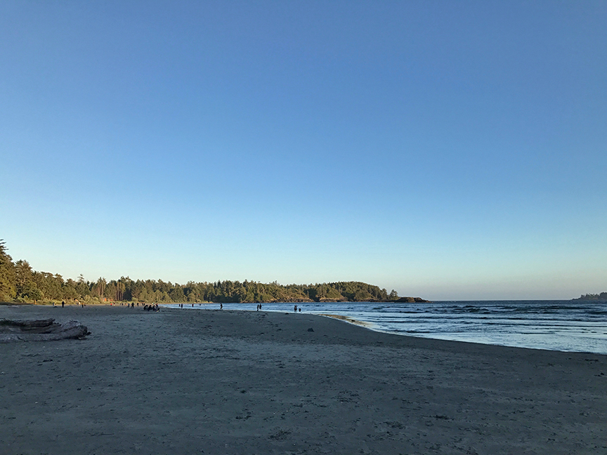 view over MacKenzie beach from Bella Pacifica campgrounds
