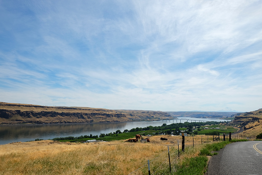 Columbia River looking west