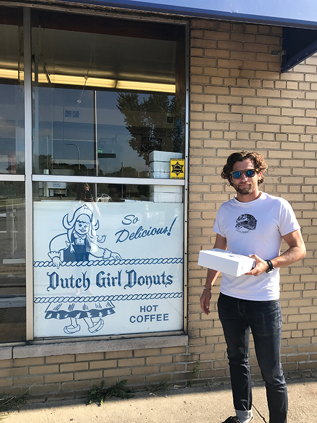 the original Dutch Girl Donuts - caught them on their (re)opening day