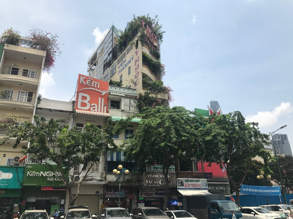 We liked how this building looks like its occupants are trees and plants.