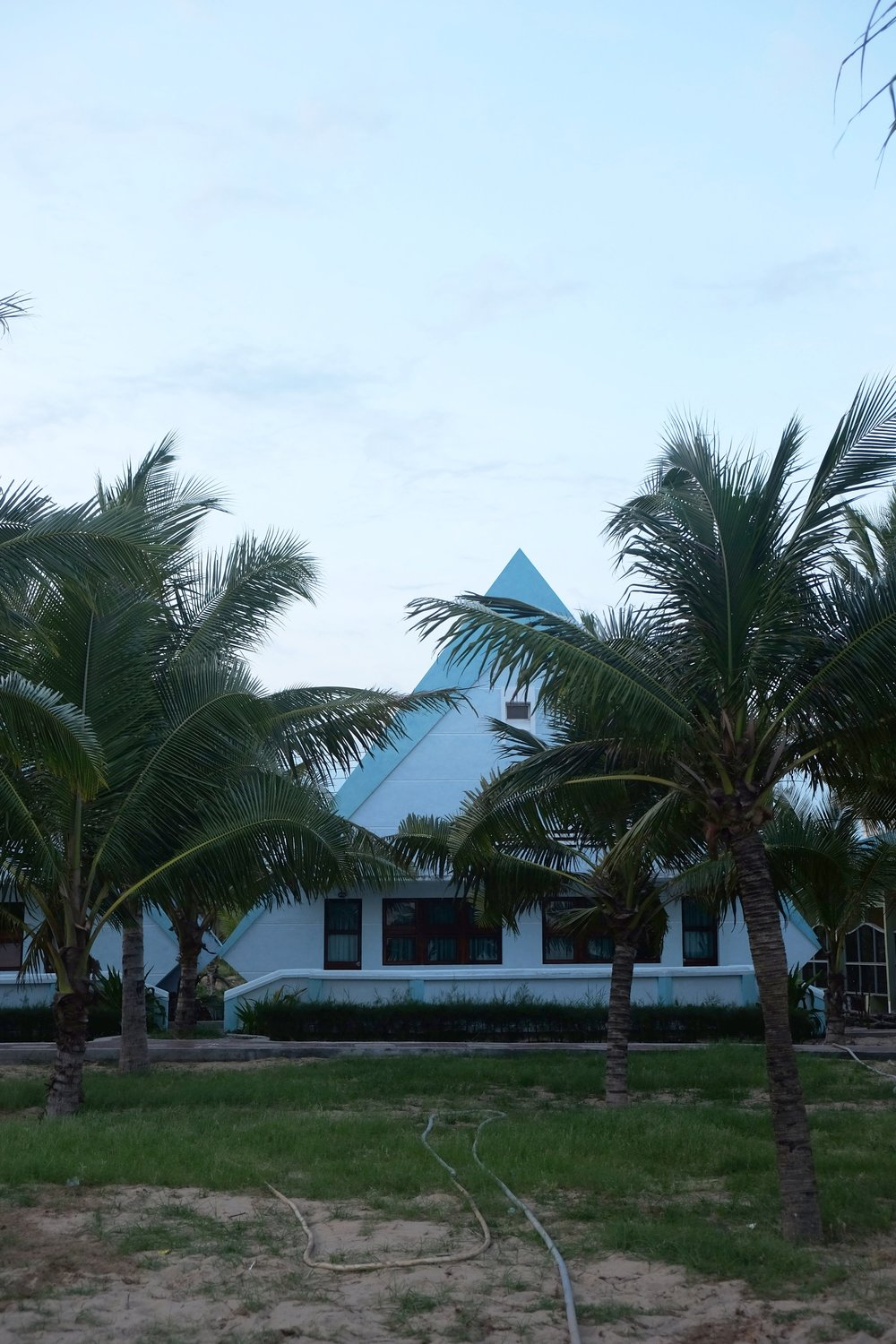 Funky beach architecture in Ninh Chu Beach