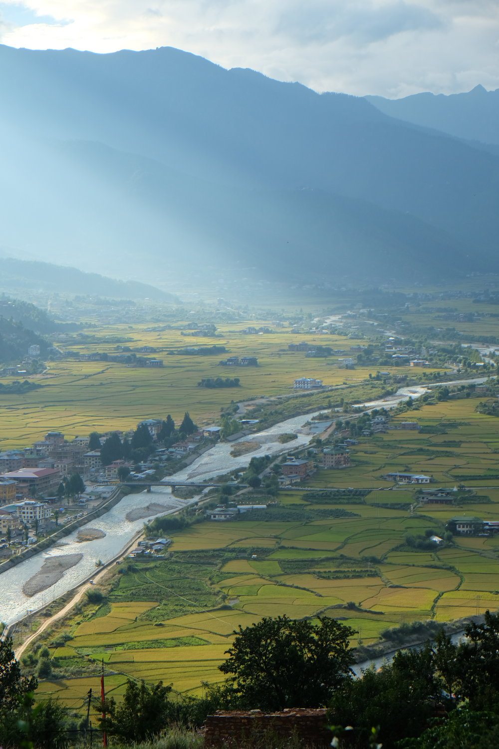 View of Paro from the National Museum