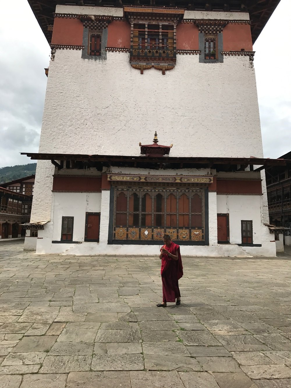 Monk at the Dzong