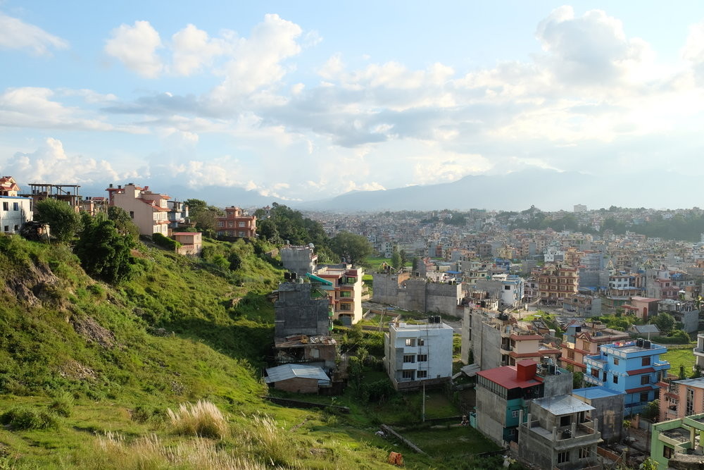 An example of the significant changes Kathmandu had undergone since I was last there.  The lower right of this picture is filled with houses as of October 2017.  In 1998 it was all rice fields.