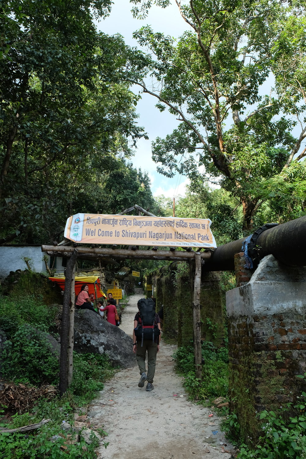 Entering Shivapuri