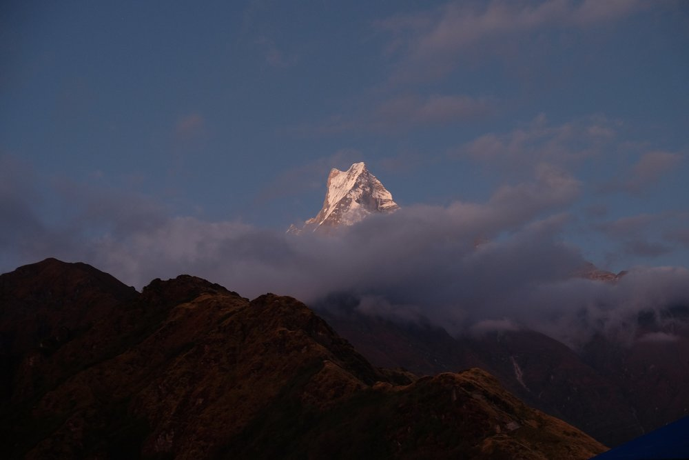 Machapuchre in the morning light