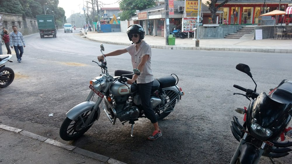 Ali and the Royal Enfield