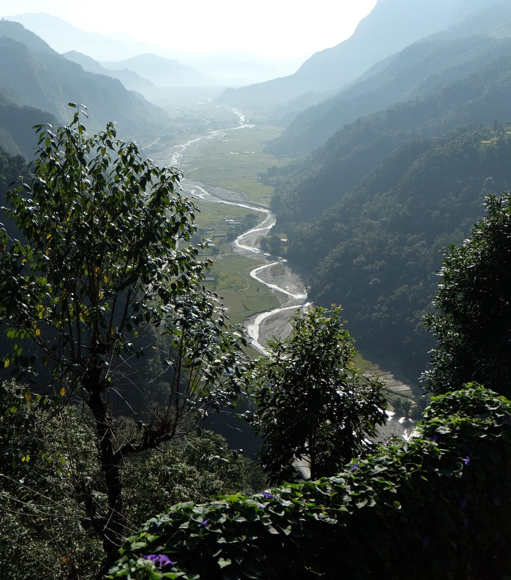 Looking back on the Seti Gandaki River
