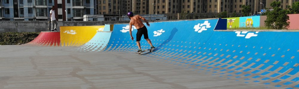 The transition sections create a color gradient that lifts the eye to the skyline where the action is.