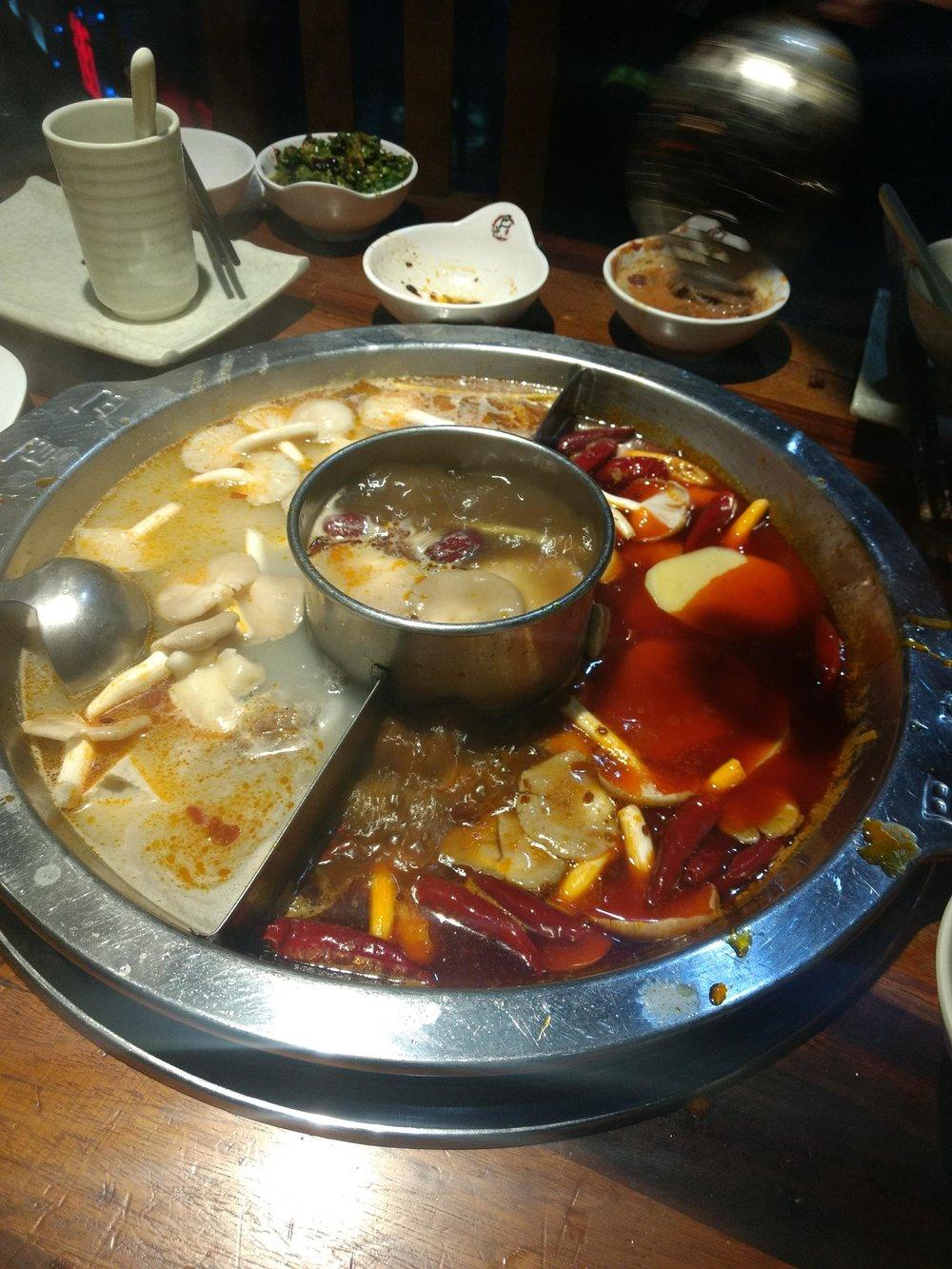 Hot pot, Szechuan style