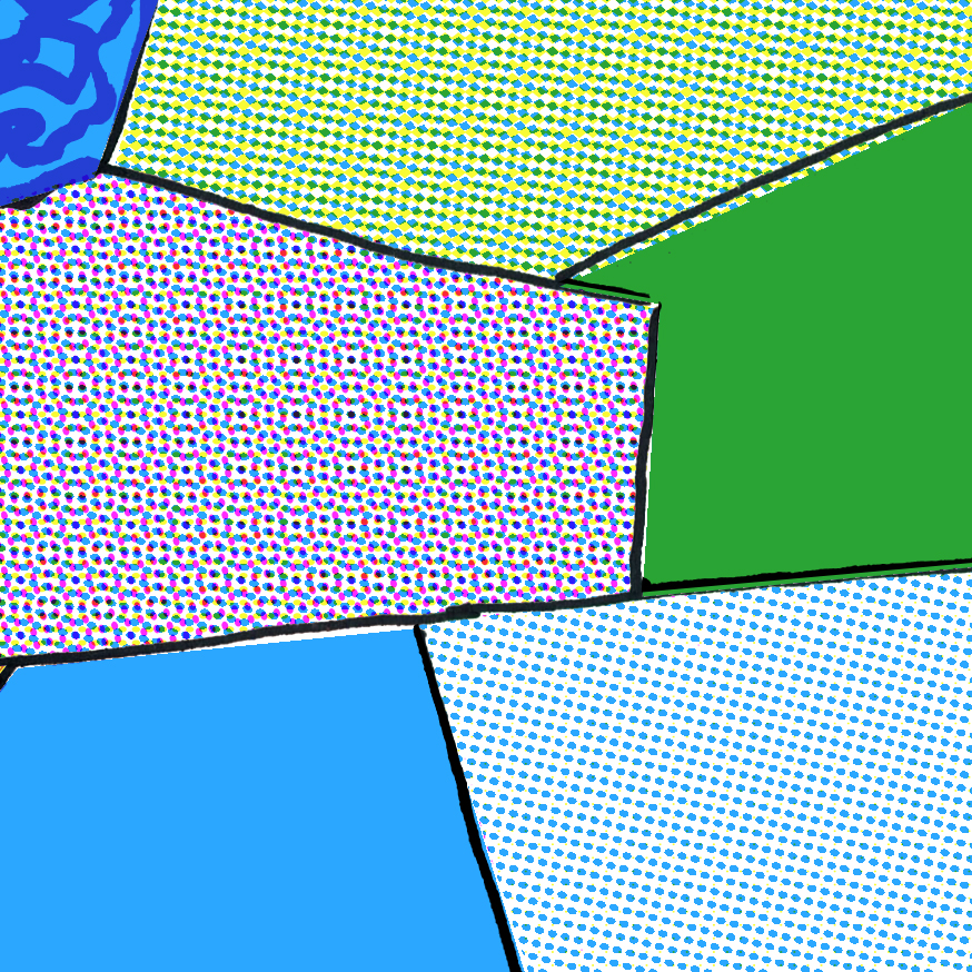 Detail of composited halftone pattern