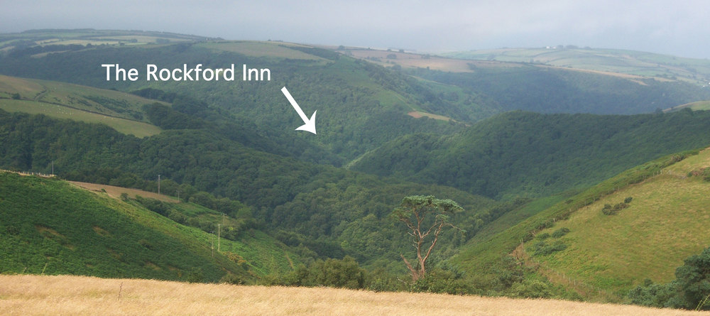 This picture was taken from the A39 at the junction with Hall Hill (see map below)
