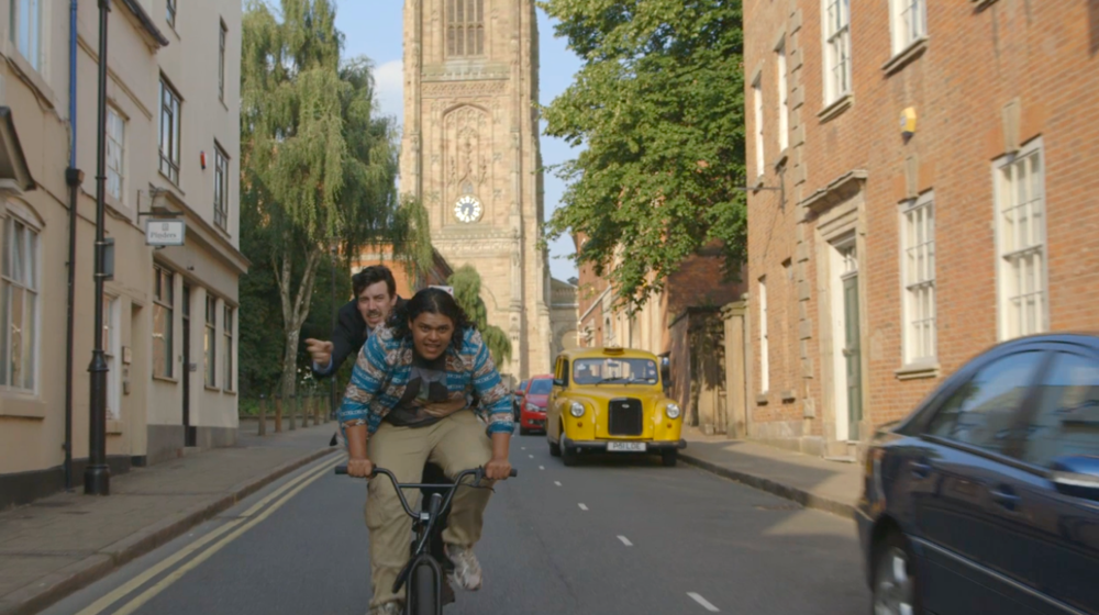 2) Sitcom characters Ben (Joseph Maudsley) and Josh (Ed Kear) in the Cathedral Quarter.png