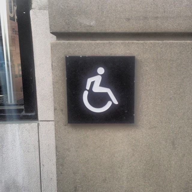 New accessibility icon #2milesoftelegraph