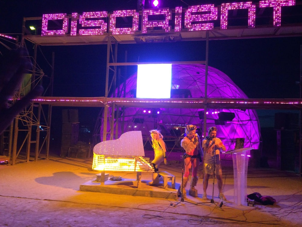 DISORIENT at Burning Man 2015  Art Direction : Rebecca Nuvoletta   LED Art : Leo Villareal and HRC.