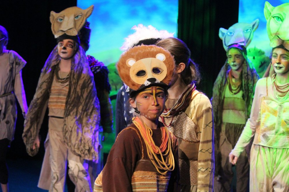 The Lion King  Directed by : Marci Shein   In Collaboration With : Little Fig Stage  Solomon Schechter Academy of Westchester      We work in collaboration with Little Fig Stage, a theatrical education entity that beings drama programs to schools that do not have in house art infrastructure but have students interested in performing and learning about production. On these projects we supply the design, gear, labour, logistics as well as educational and training services.