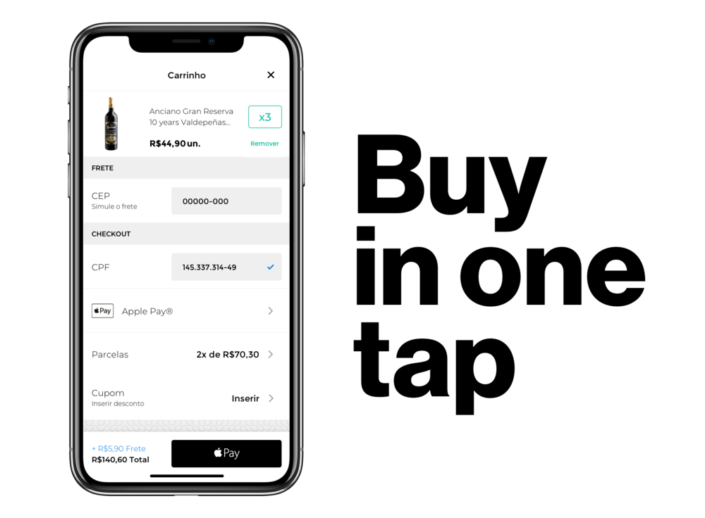 Buy in one tap