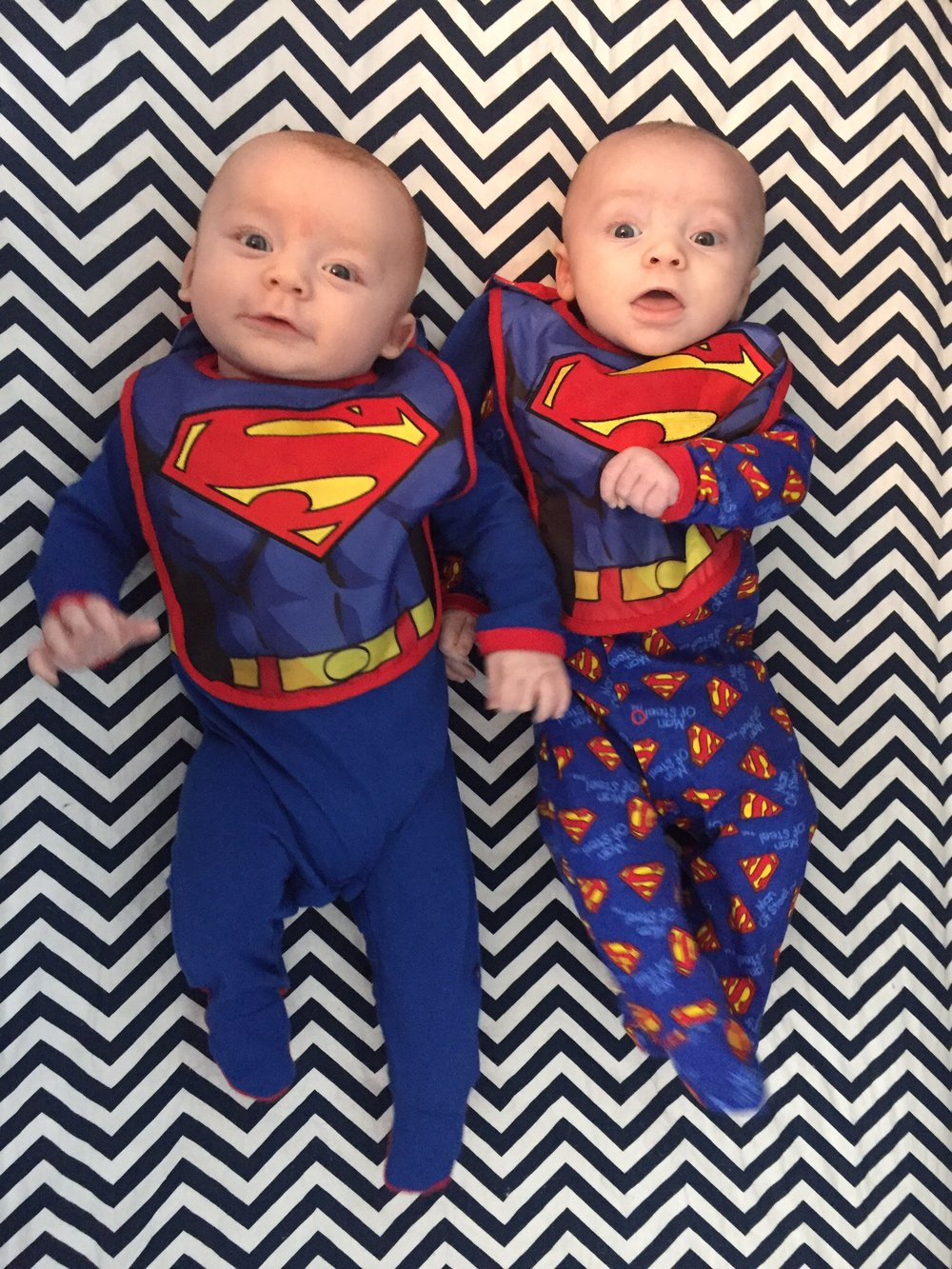 Joshua & Julian, 3 months old, feeling super